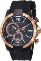Technomarine Men's 'UF6' Quartz Stainless Steel and Silicone Casual Watch, Color: (Model: TM-615014)