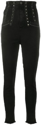 Pinko High-Waisted Slim-Fit Jeans