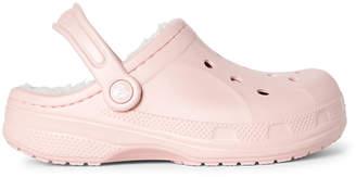 Crocs Toddler/Kids Girls) Cotton Candy & Oatmeal Ralen Lined Clogs