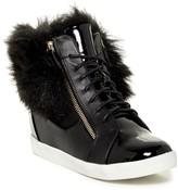 LFL Phluff Faux Fur Lined Wedge Sneaker