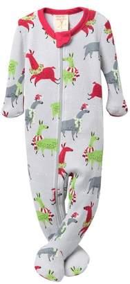 Munki Munki Llamas Thermal One-Piece Pajamas (Baby)