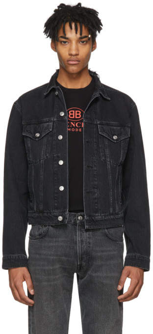 Balenciaga Black Classic Denim Jacket