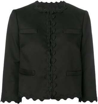 RED Valentino scalloped cropped jacket