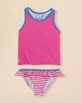 Ralph Lauren Girls' Stripe Tankini Two Piece Swimsuit - Sizes 2-6X