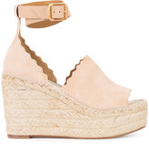 Chloé wedge espadrilles - women - Leather/Suede - 36