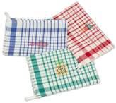 Multicolor Plaid Cotton Dishtowels (Set of 3), 'Fresh Color'