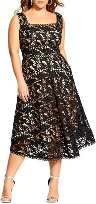 City Chic Lace Avery Dress