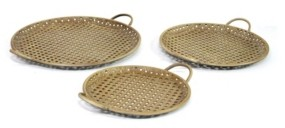 Stratton Home Decor Metal Decorative Trays, Set of 3