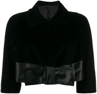 A.N.G.E.L.O. Vintage Cult 1950s Silk Bow Jacket