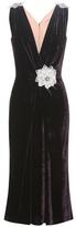 Dolce & Gabbana Embellished velvet dress