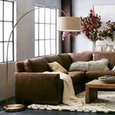west elm Overarching Linen Shade Floor Lamp- Antique Brass