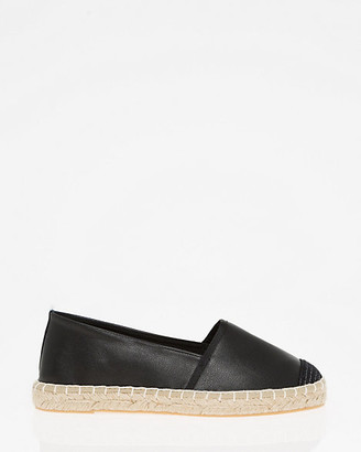 Le Château Canvas & Faux Leather Espadrille