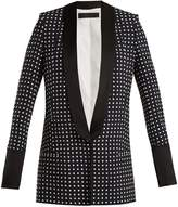 Haider Ackermann Shawl-lapel polka-dot print blazer