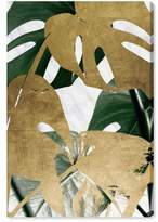 Oliver Gal Golden Plants Canvas Wall Art