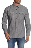 Fundamental Coast Coastline Stripe Button Front Regular Fit Shirt