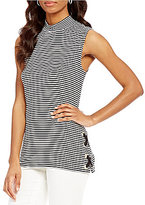 Preston & York Caitlyn Mock Neck Sleeveless Top