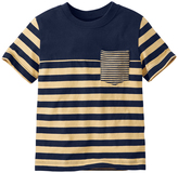 Hanna Andersson Navy & Basket Stripe Coming & Going Tee