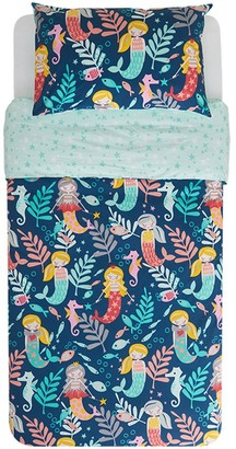 Kas Kids Sirena Quilt Cover Set with Mermaids, Seahorses and Fish Single Bed