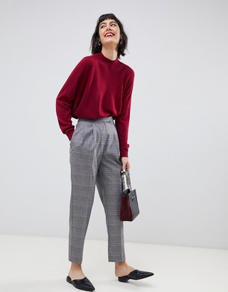Selected Manny check tailored trousers