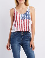 Charlotte Russe American Flag Tank Top