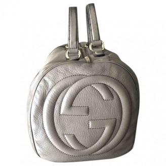 Gucci Soho Grey Leather Handbags