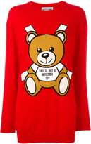 Moschino knitted teddy bear dress