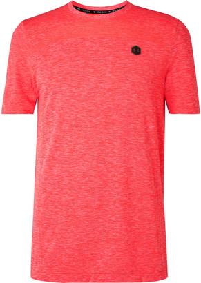 Under Armour Ua Rush Mesh-Panelled Celliant Melange Stretch-Jersey T-Shirt