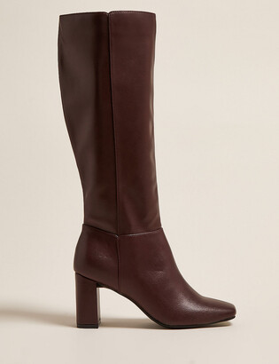 Marks and Spencer Block Heel Square Toe Knee High Boots
