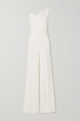 Roland Mouret Platano One-shoulder Wool-crepe Jumpsuit - White