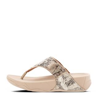 FitFlop Vanessa Marble-Glitz Toe-Post Sandals