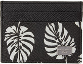 Dolce & Gabbana Black Leaves Card Holder