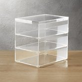 CB2 Acrylic Stacking Boxes Set Of 3