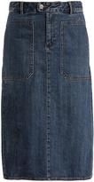 A.P.C. Nevada A-line cotton-denim skirt