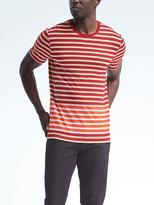 Banana Republic Linen-Stretch Bottom Stripe Tee