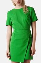 'Premium' Textured Faux Wrap Dress