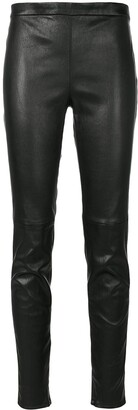 Saint Laurent Mid-Rise Fitted Leggings