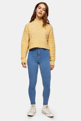 Topshop Womens Petite Bleach Wash Joni Jeans - Bleach Stone