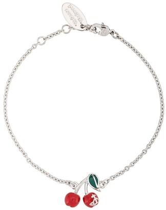 Vivienne Westwood Misty cherry charm bracelet