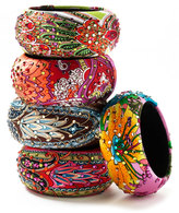 Silk Wrapped Paisley Bangle