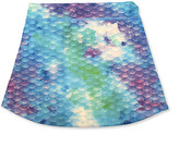 Finfun FinFun Girls' Casual Skirts Watercolor - Watercolor Waves Scale Skort - Toddler & Girls
