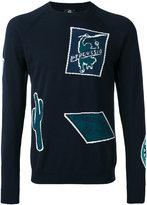 Paul Smith patterned crew neck jumper - men - Cotton - M