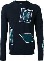 Paul Smith patterned crew neck jumper