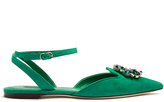 Dolce & Gabbana Belluci point-toe suede flats