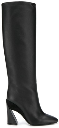 Salvatore Ferragamo knee-length structured-heel boots