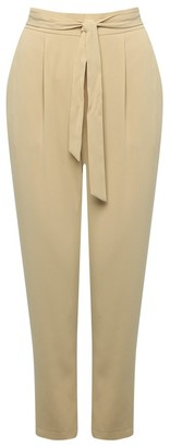M&Co Petite belted crepe trousers