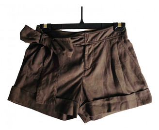 Valentino Brown Cloth Shorts