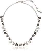 Kenneth Cole New York Stone Cluster Mixed Metallic Faceted Stone Necklace
