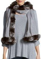 "Badgley Mischka Solid Wool Blend Scarf - 80"" X 24"