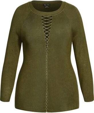 City Chic Crisscross Sweater