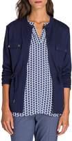 Olsen Utility Chic Full-Zip Jersey Jacket